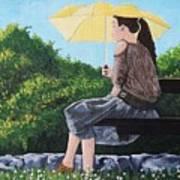 The Yellow Umbrella Art Print