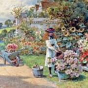 The Young Gardeners Art Print