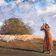 The Young Shepherdess Art Print