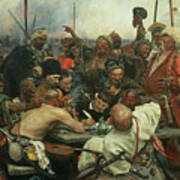 The Zaporozhye Cossacks Writing A Letter To The Turkish Sultan Art Print