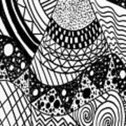 The Zendoodle Desert Art Print