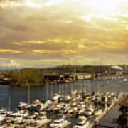 Thea Foss Waterway In Tacoma Washington Art Print