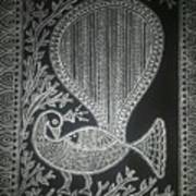 The Madhubani Peacock Art Print