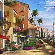 Themed Terrace Art Print