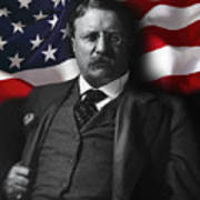 Theodore Roosevelt 26th President Of The United States Art Print