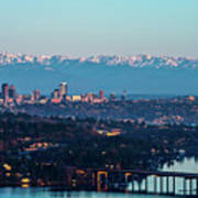 The_olympics_over_seattle Art Print