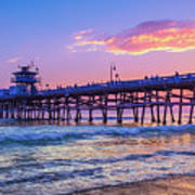 There Will Be Another One - San Clemente Pier Sunset Art Print