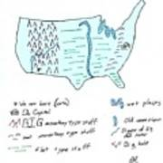 These United States Art Print