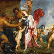 Thetis Receiving The Weapons Of Achilles From Hephaestus Art Print