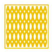 Thick Curved Trellis With Border In Mustard Art Print