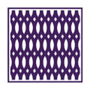 Thick Curved Trellis With Border In Purple Art Print