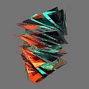 Thin Glass Triangles - 127 Art Print