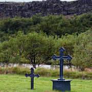 Thingvellir Church Cemetery, Iceland Art Print