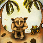 Thinking About Coconuts Art Print