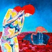 Thinking Woman Art Print