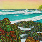 Third Bay Coolum Beach Triptych Art Print