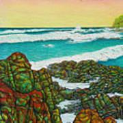Third Bay Coolum Beach Triptych Art Print