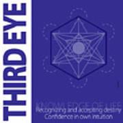 Third Eye Chakra Series Three Art Print