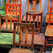 Thirteen Chairs Art Print