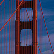 This Is A Close Up Of The Golden Gate Art Print