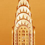 Chrysler Building At Sunset Art Print