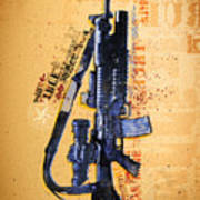 This Is My Rifle Riflemans Creed Art Print