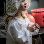 This Little Lady Gives Halloween Candy 5962vg Art Print