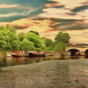 This Morning On The River Art Print