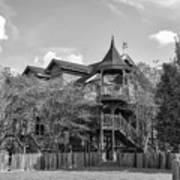 This Old House In Black And White Art Print
