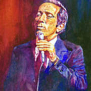 This Song Is For You - Andy Williams Art Print by David Lloyd Glover