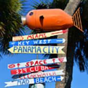 This Way To Florida Art Print