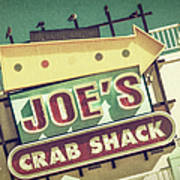 This Way To Joe's Crab Shack Art Print