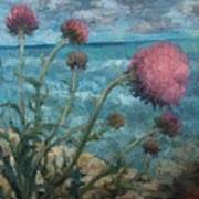 Thistles By The Sea Art Print