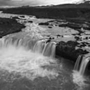 Thofafoss Waterfall Iceland 1538 Art Print