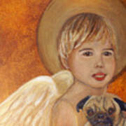 Thomas And Bentley Little Angel Of Friendship Art Print by The Art With A Heart By Charlotte Phillips