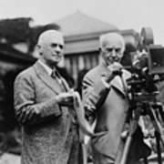 Thomas Edison 1847-1931 And George Art Print