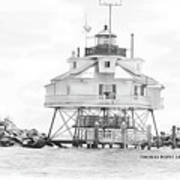 Thomas Point Lighthouse Print by Laurie Williams