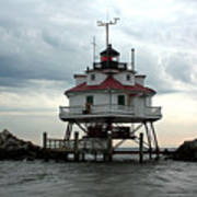 Thomas Point Shoal Lighthouse - Up Close Art Print