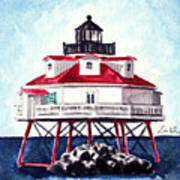 Thomas Point Shoal Lighthouse Annapolis Maryland Chesapeake Bay Light House Art Print