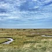 Thornham Marshes, Norfolk Art Print