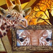 Those Eyes     Giraffe  Safari Series No 3 Art Print