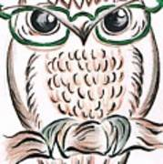 Owl- Those Spectacles  Art Print