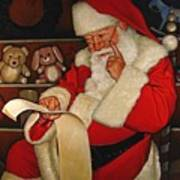Thoughtful Santa Art Print