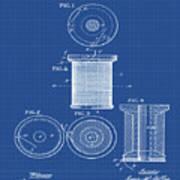 Thread Spool Patent 1877 Blueprint Art Print