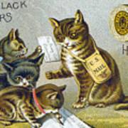 Thread Trade Card, 1880 Art Print