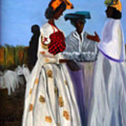 Three African Women Art Print