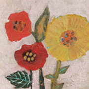 Three Awkward Flower Blossoms Art Print