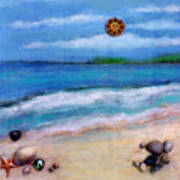 Three Beaches A Art Print