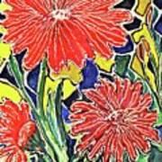 Three Red Blooms Art Print