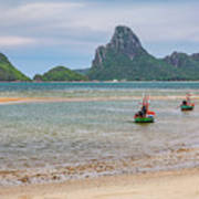 Three Boats Thailand Art Print